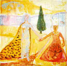 Godmother - 1995 - Acrylic, Mixed Media on Canvas - 71.5 X 71.5cm