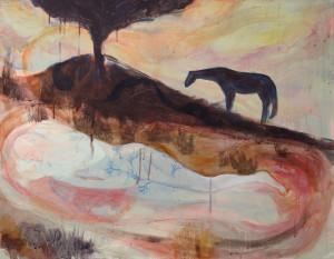 Earth Embrace - 2012 - Acrylic, Mixed Media on Canvas - 71 X 92 cm