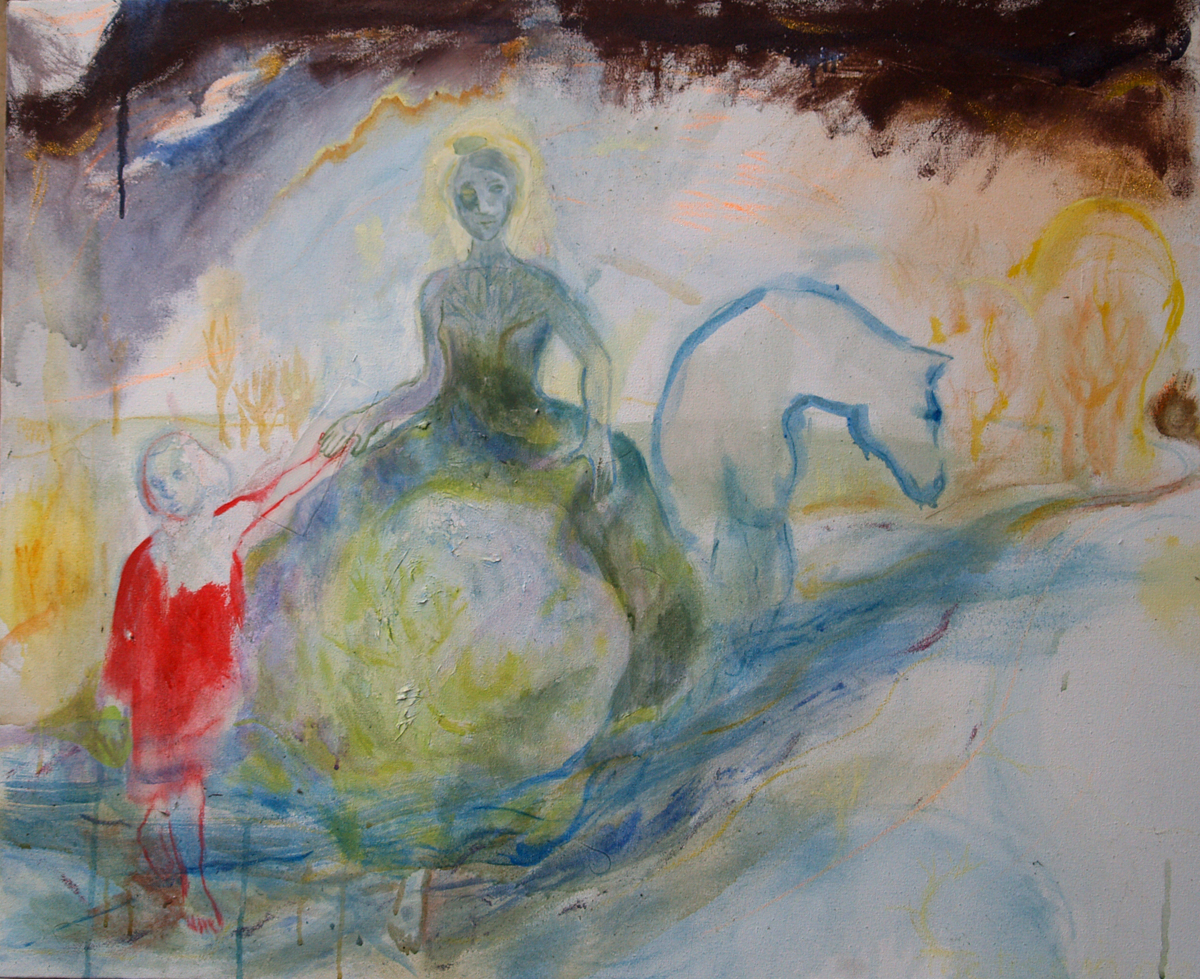 Journey with the Girl - 2006 - Acrylic, Mixed Media on Canvas -120 X 95cm