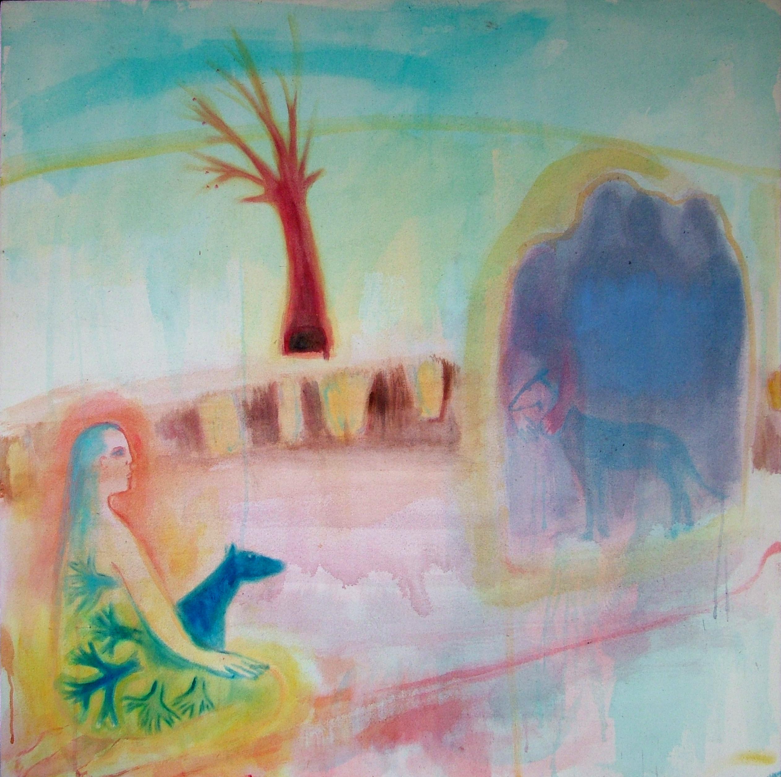 Ancestors - 1999 - Acrylic, Mixed Media on Canvas - 120 X 120 cm