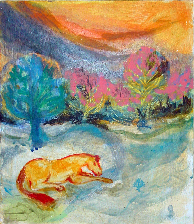 Fire Horse - 2004 - Acrylic, Mixed Media on Board - 36 X 30 cm