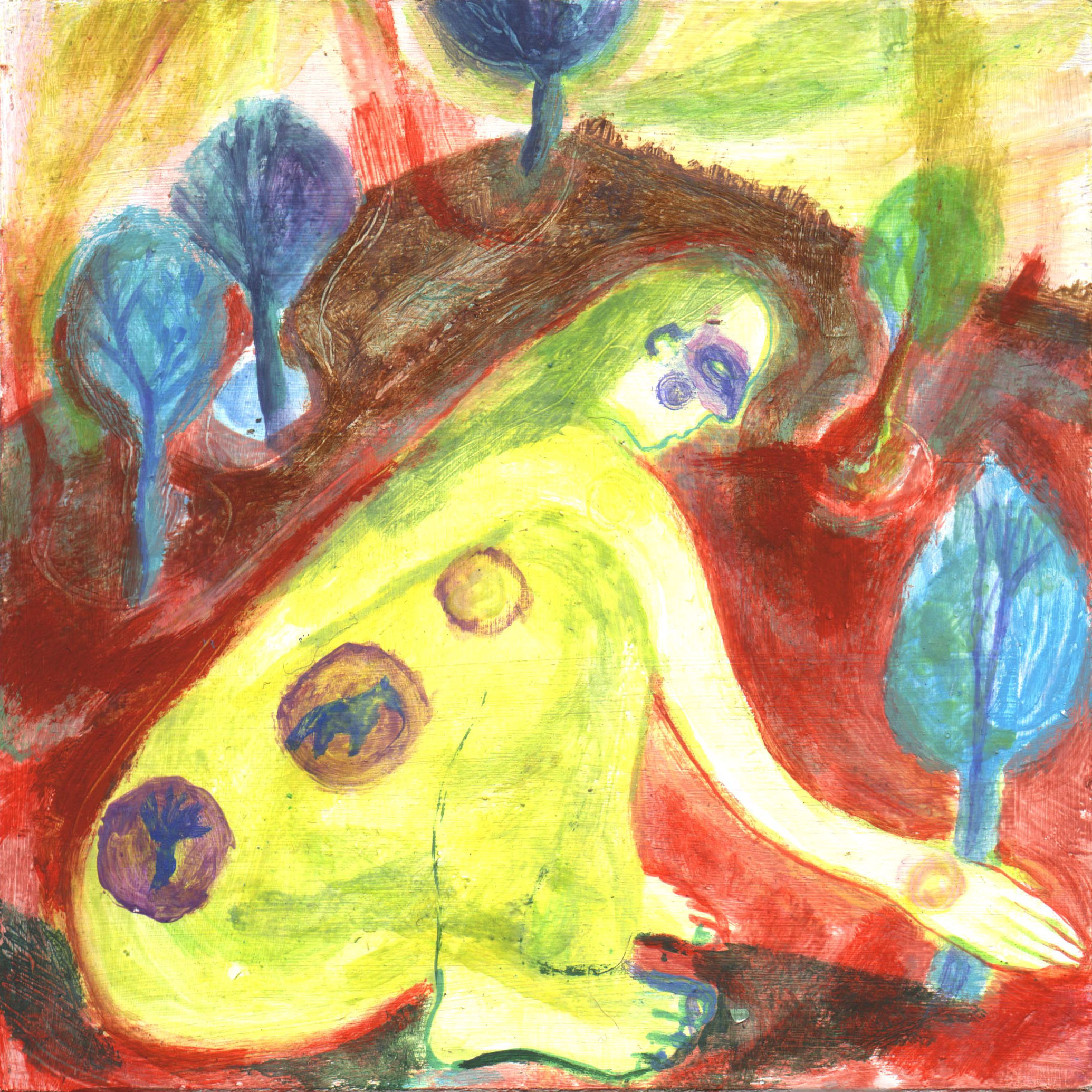 In Her Garden - 2001 - Acrylic on board