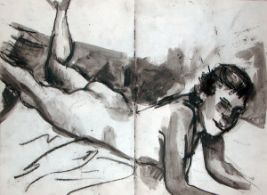 Life Drawing 4 - 1986 - Pastel, mixed media on Paper - 42 X 31 cm