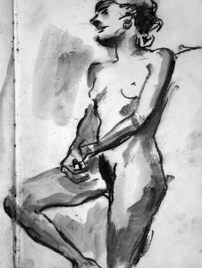 Life Drawing 6 - 1986 - Pastel, mixed media on Paper - 42 X 31 cm
