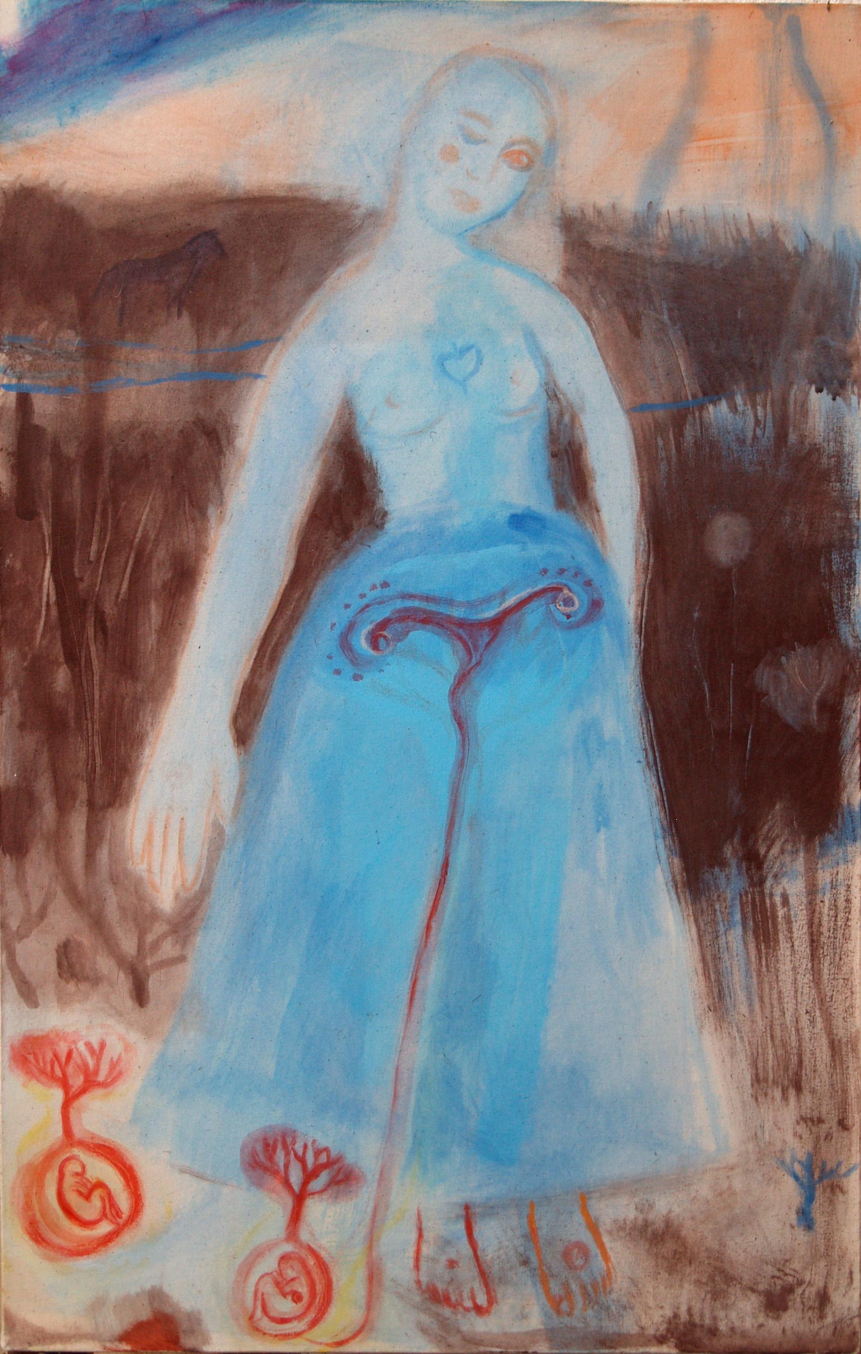 Mother - 1989 - Acrylic, Mixed Media on Canvas - 61 X 98 cm