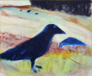 Rooks on Chalk - 2004 - Acrylic on Canvas - 61 X 51 cm
