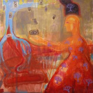 Sight - 1996 - Acrylic, Mixed Media on Canvas - 119 X 119 cm