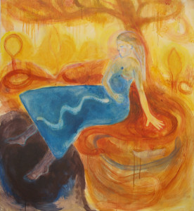 Snake Pit - 2014 - Acrylic, Mixed Media on Canvas - 114 X 105 cm