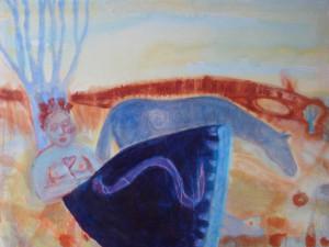 Snaky Skirt - 1997 - Acrylic, Mixed Media on Canvas - 71 X 93 cm
