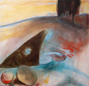 Winter Digging - 2002 - Acrylic, Mixed Media on Canvas - 120 X 120 cm