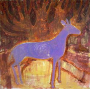 Deer Dear - 1994 - Acrylic, mixed media on canvas - 120 X 120 cm - Sold